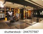 modern fashion shop storefront... | Shutterstock . vector #244757587