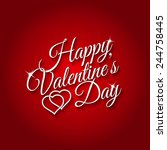 february 14th happy valentines... | Shutterstock .eps vector #244758445