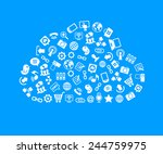 social network  communication... | Shutterstock .eps vector #244759975