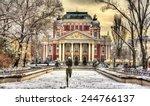 ivan vazov national theatre in... | Shutterstock . vector #244766137