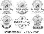 a set of several pieces... | Shutterstock .eps vector #244776934