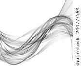 abstract black line grey wave... | Shutterstock . vector #244777594