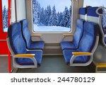 Interior Of Train And Winter...