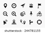 geolocation icons | Shutterstock .eps vector #244781155