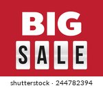 big sale flip letter design...