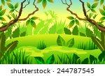 woodland scenery | Shutterstock .eps vector #244787545