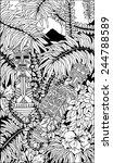 aztec totems doodle art | Shutterstock .eps vector #244788589