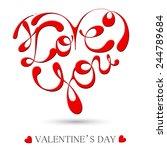 happy valentine's day hand... | Shutterstock . vector #244789684