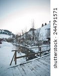 wooden bridge in a traditional...