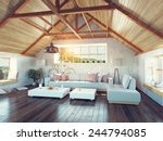Beautiful Modern Attic Interio...