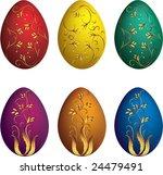 easter eggs. vector | Shutterstock .eps vector #24479491