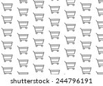 gray cart on white background | Shutterstock .eps vector #244796191
