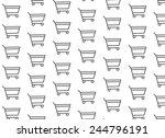 gray cart on white background | Shutterstock .eps vector #244796191