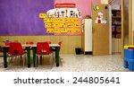 preschool classroom with red...   Shutterstock . vector #244805641