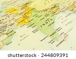 india geographical view ... | Shutterstock . vector #244809391