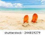 travel background with a pair... | Shutterstock . vector #244819279
