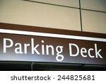 parking deck sign | Shutterstock . vector #244825681