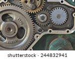 gear wheels in the engine   Shutterstock . vector #244832941