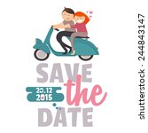 save the date invitation card... | Shutterstock .eps vector #244843147