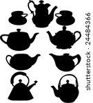 Vintage Teapots Vector