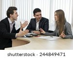 emotional discussion. business... | Shutterstock . vector #244849471
