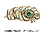 Brooch In The Shape Of Peacock...