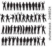 a set of fifty different people ... | Shutterstock .eps vector #2448524