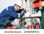 gas production operator | Shutterstock . vector #244858921