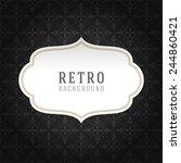 vintage style white paper label ... | Shutterstock .eps vector #244860421
