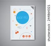 modern vector abstract brochure ... | Shutterstock .eps vector #244864321