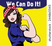 We Can Do It. Iconic Woman's...