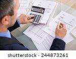 over the shoulder view of... | Shutterstock . vector #244873261