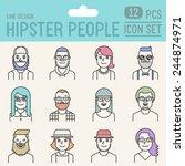Hipster People Line Design...
