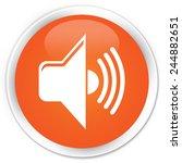 volume icon orange glossy round ...   Shutterstock . vector #244882651