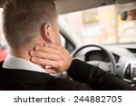 rear view of a man having neck... | Shutterstock . vector #244882705