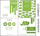 lettuce labels set. collection... | Shutterstock .eps vector #244883131