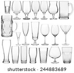 collection of empty glassware... | Shutterstock . vector #244883689
