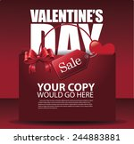 valentine's day sale shopping... | Shutterstock .eps vector #244883881