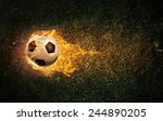 conceptual image of football... | Shutterstock . vector #244890205