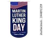 martin luther king day banner... | Shutterstock .eps vector #244891159