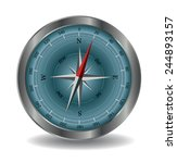 vector compass illustration... | Shutterstock .eps vector #244893157