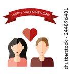 valentines day | Shutterstock .eps vector #244896481