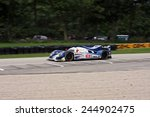 Elkhart Lake Wisconsin, USA - August 18, 2012: Road America Road Race Showcase, ALMS / IMSA sports car race winner. American Le Mans Series Four-hour, timed. Chris Dyson, Guy Smith, Lola B12/60  - stock photo