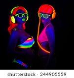 Two Sexy Female Disco Dancers...