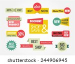 set of sale banners and badges  ... | Shutterstock .eps vector #244906945