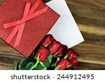 Gift Box With Long Stem Red...