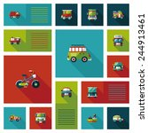 transportation ui flat design... | Shutterstock .eps vector #244913461