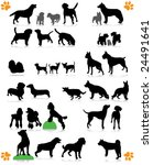 dogs silhouette part 2 of 3 dog'... | Shutterstock .eps vector #24491641