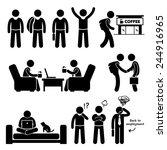 freelancer self employed... | Shutterstock . vector #244916965