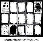abstract grunge frame set.... | Shutterstock .eps vector #244921891